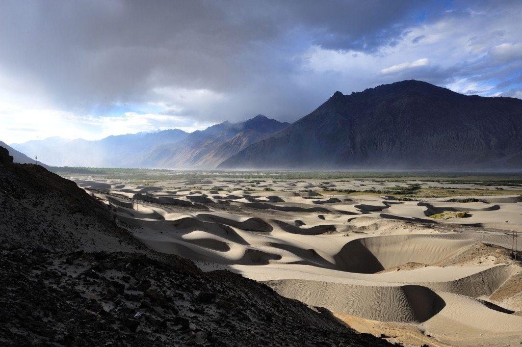 Leh Ladakh road trip - Hunder Sand Dunes of Nubra Valley