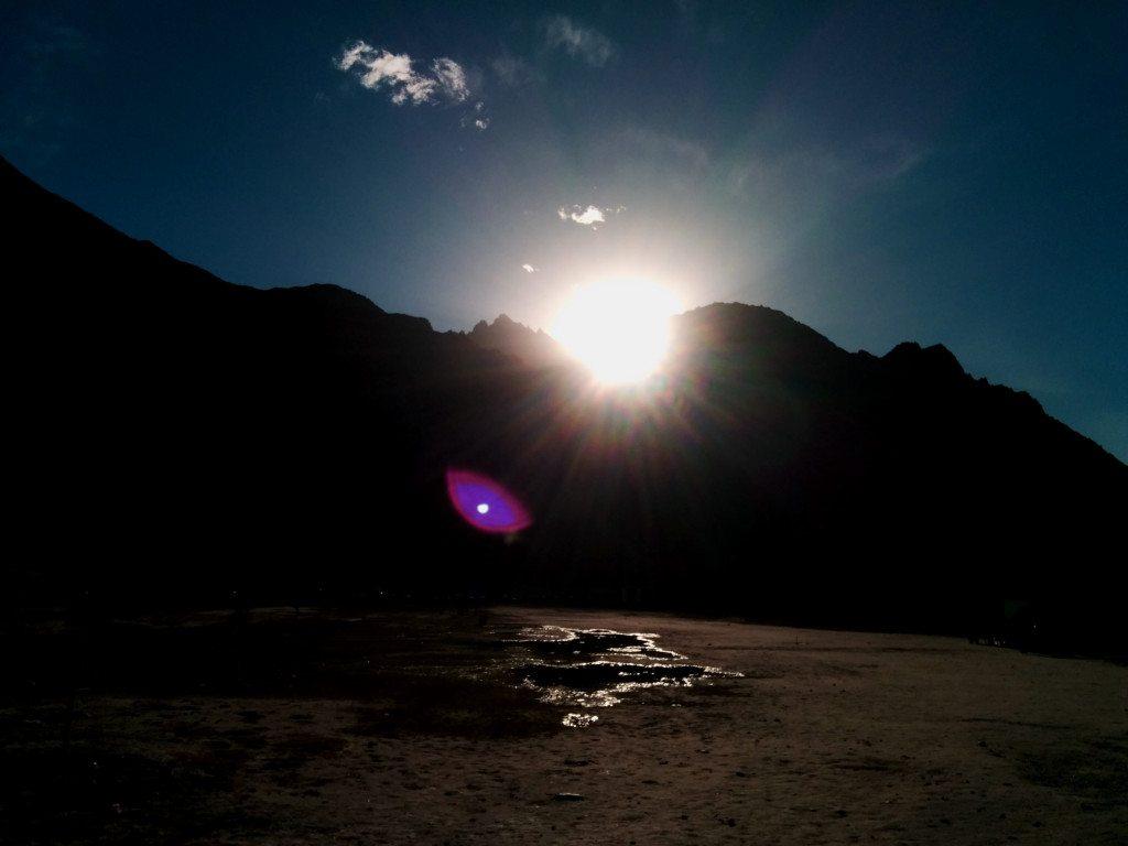 Leh Ladakh road trip: Sunset in Hunder, Nubra Valley