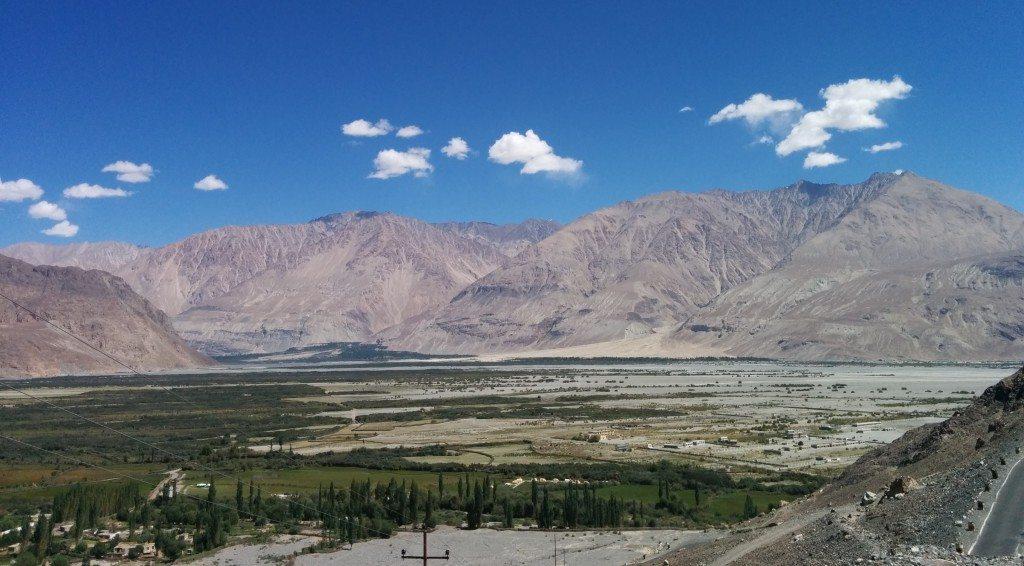 Leh Ladakh Road trip: Nubra Valley Top View from Diskit Monastery