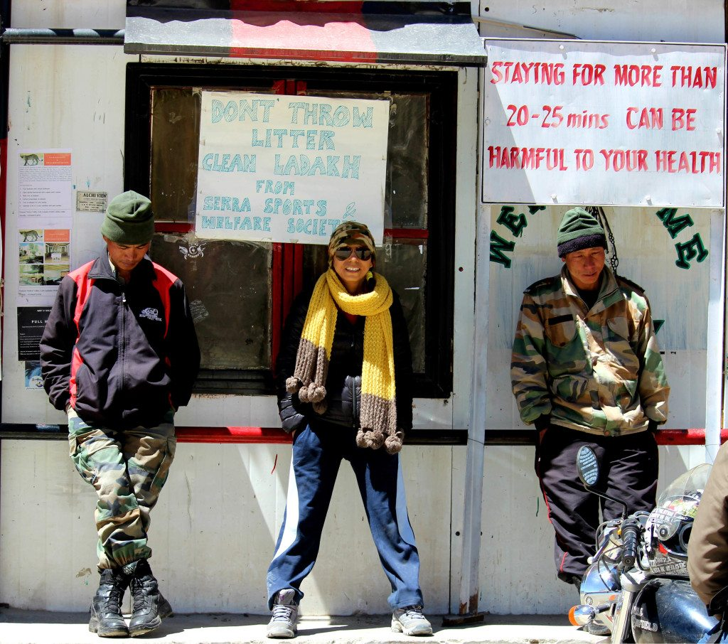 Standing tall with our proud jawans on world's highest motorable road top - Khardungla, Ladakh