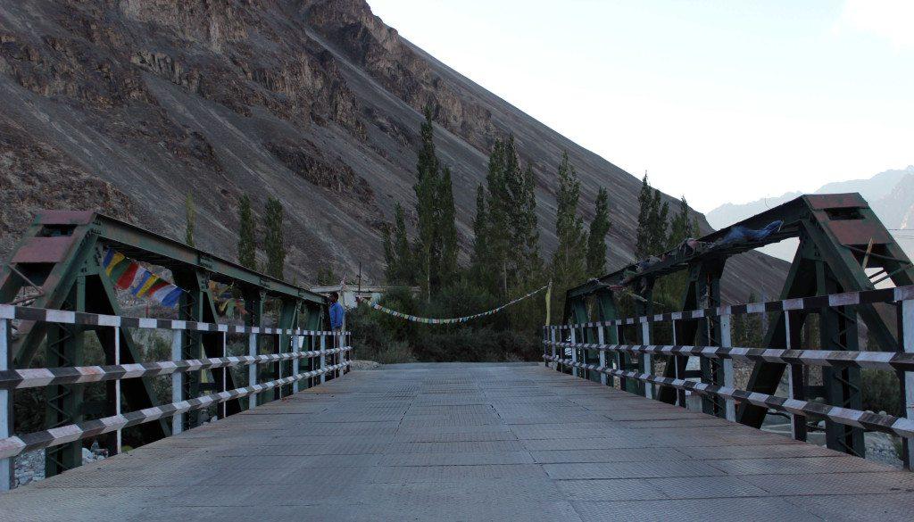 Leh Ladakh Road trip: Bridge over Shyok Canal, Hunder, Nubra Valley
