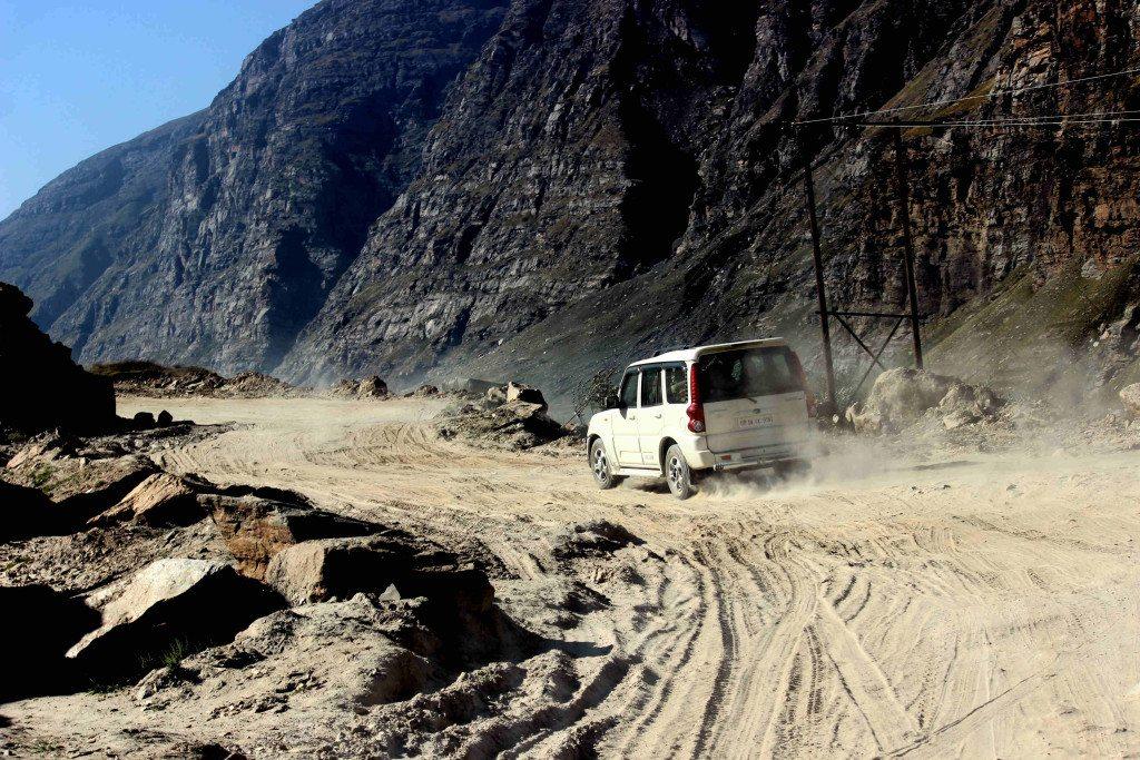 The namesake road from Rohtang Pass to Khoksar