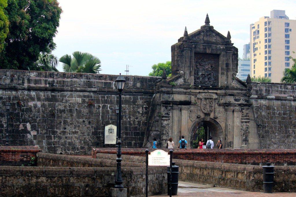 Fort Santiago iconic gate featuring Santiago Matamoros, the patron saint of Spain