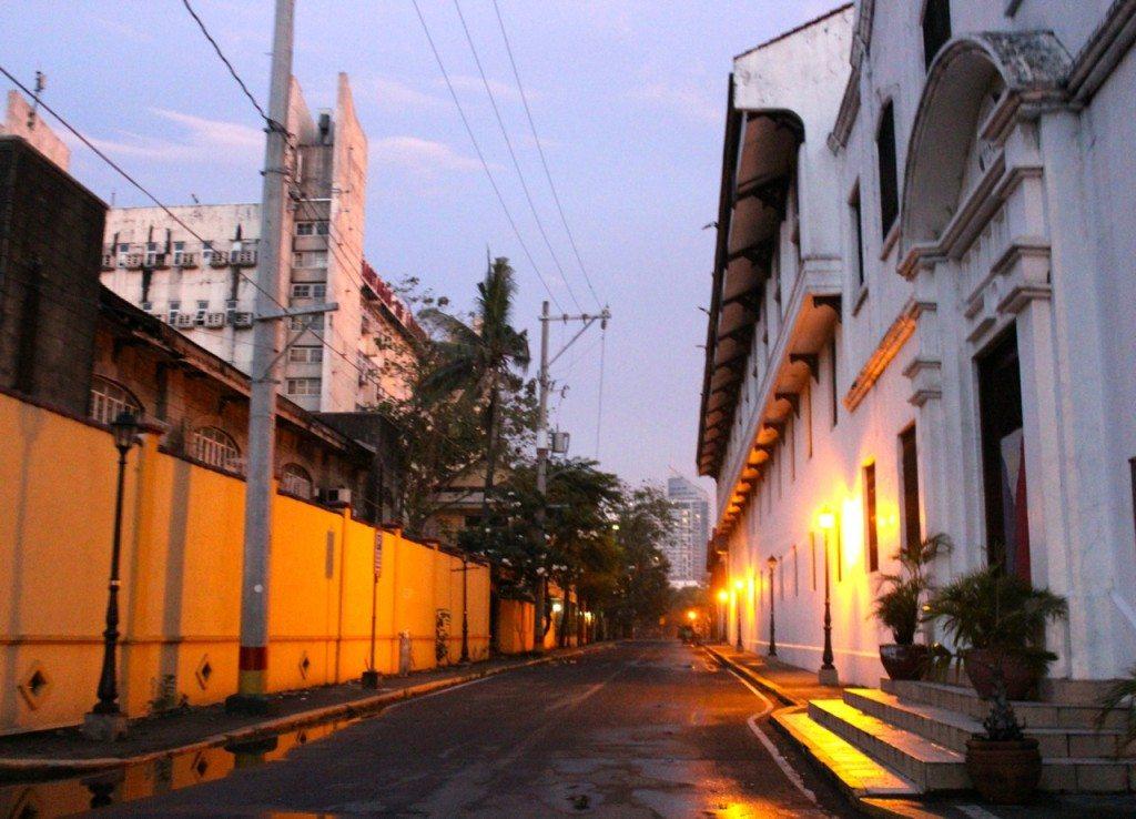 Intramuros street at night
