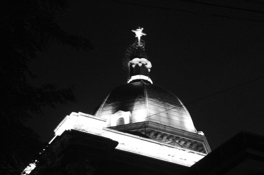 manila cathedral back shot