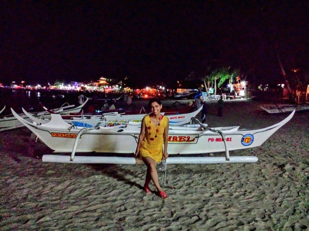 The Night life at the White Beach, Puerto Galera, Philippines