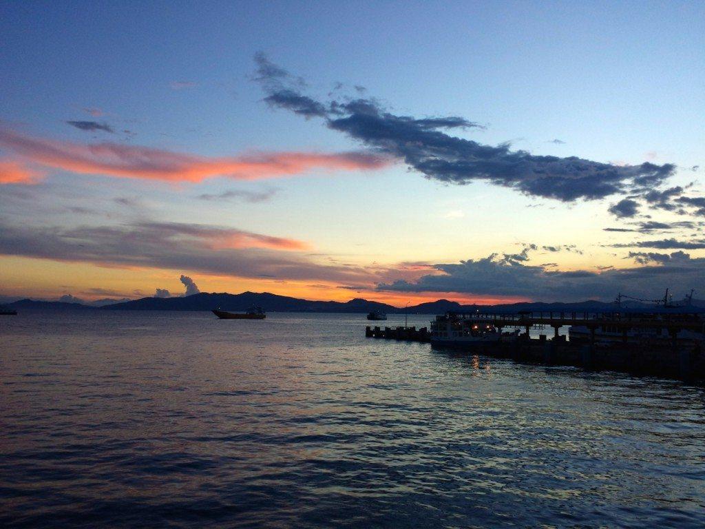 Sunset at Batangas pier, philippines