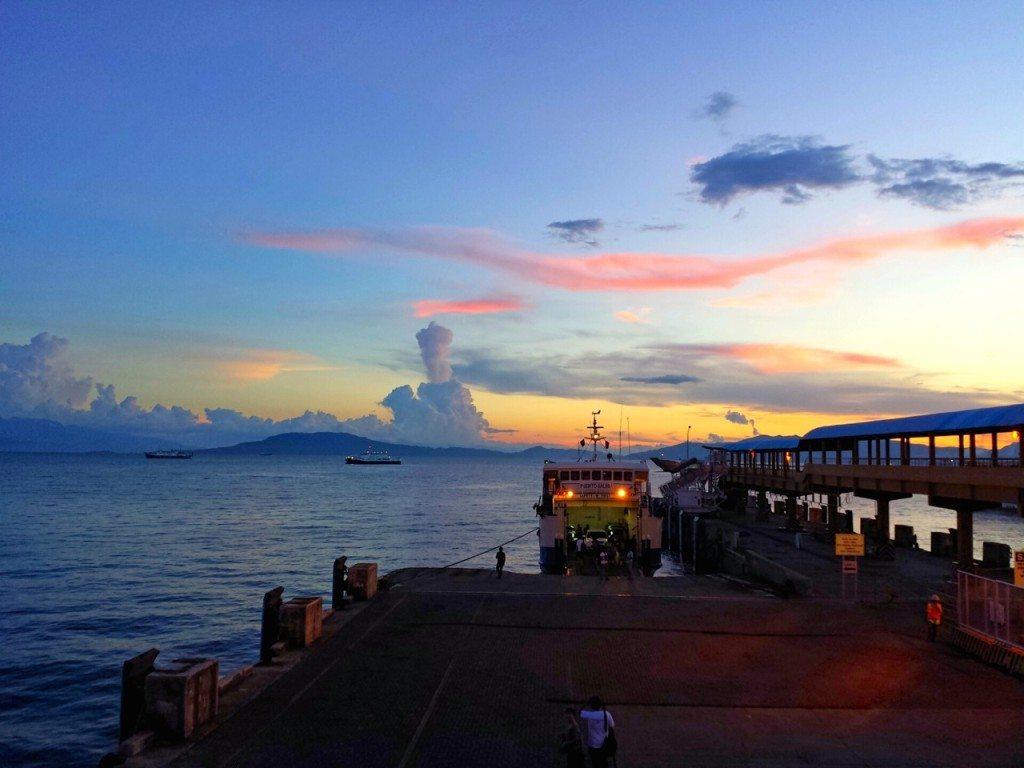 Sunset at Batangas pier, Batangas, Philippines