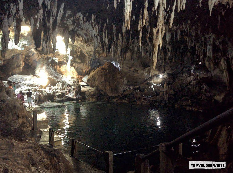 Swim in the freshwater lake of Hinagdanan Cave