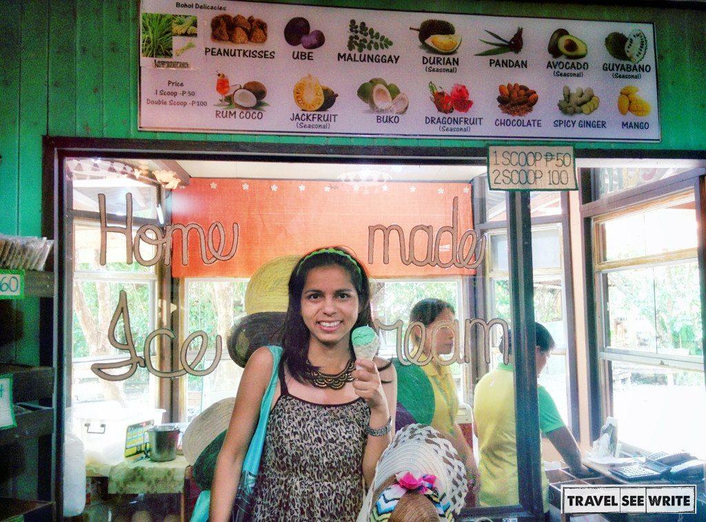 Home made Ice Cream at Bohol Bee Farm