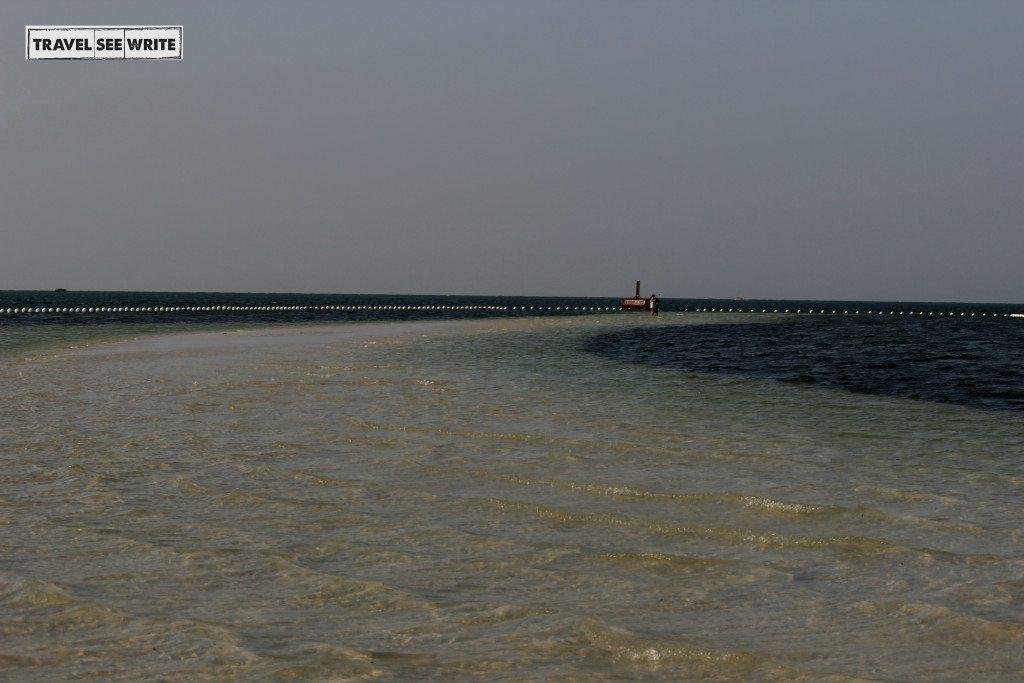 Virgin Island Sandbar during high tide