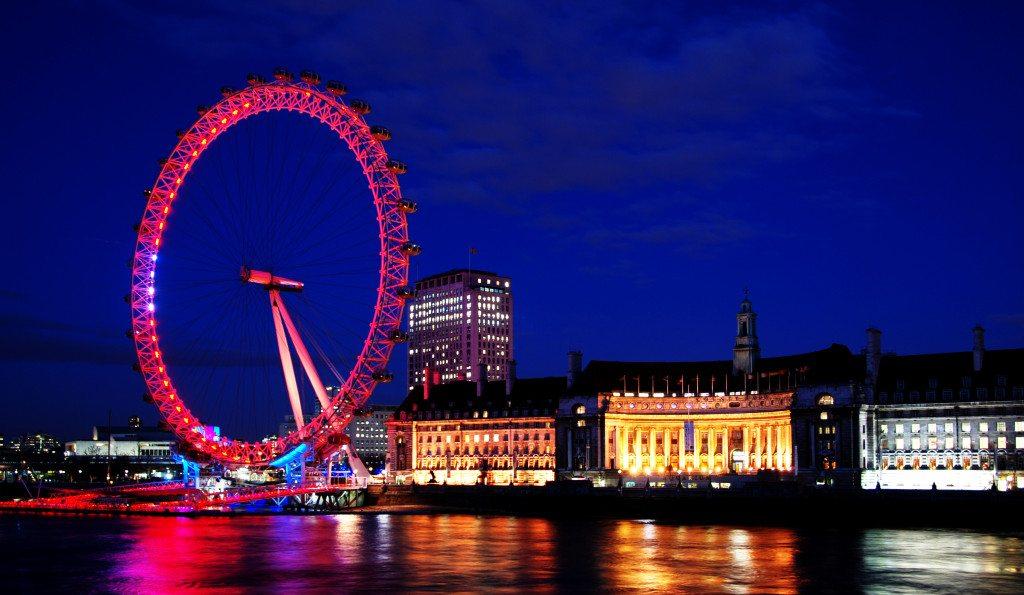 London Eye on Thames River