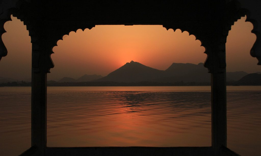 Golden hour at Udaipur, Rajasthan, India