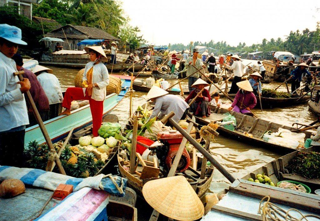 Floating Market, Mekong Delta, Vietnam