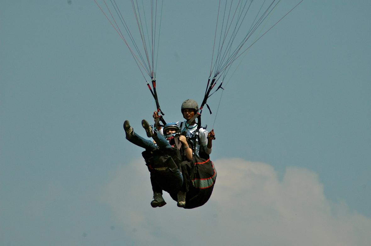Shivya Paragliding above Bir Billing
