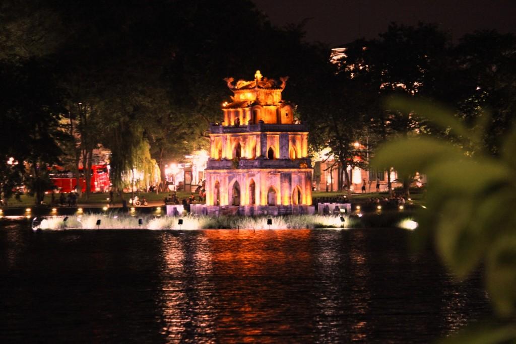 View from Hoan Lake, Hanoi