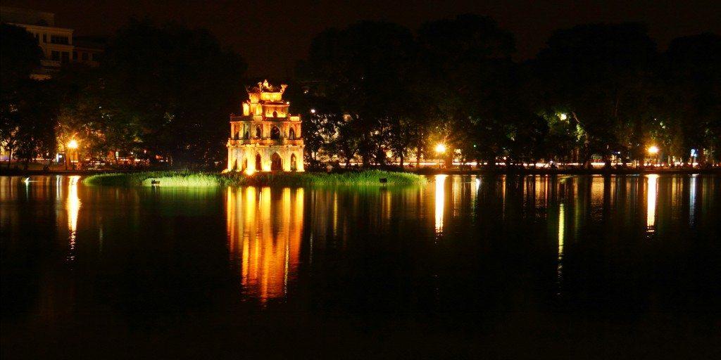 Visit Vietnam for Hoan Kiem Lake at Hanoi