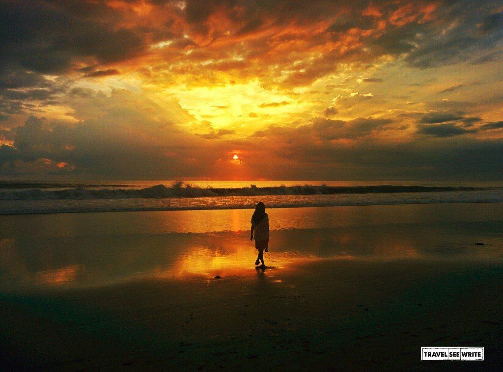 Sunset at Seminayk Beach, Bali
