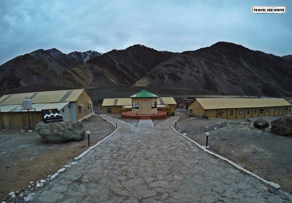 Army camp, Chumathang, Changthang