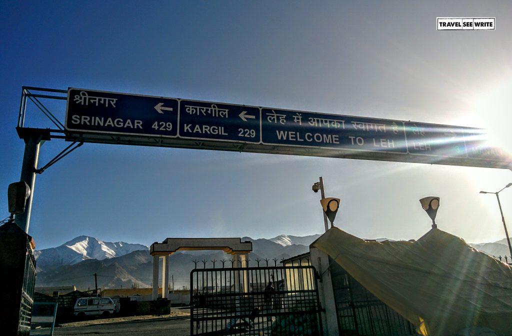 Touchdown ad Leh Airport, Ladakh