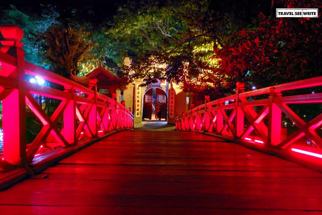 Way to Ngoc Son Temple, Hanoi, Vietnam