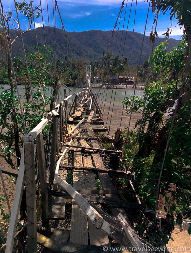 Damaged hanging bridge, Baler-2