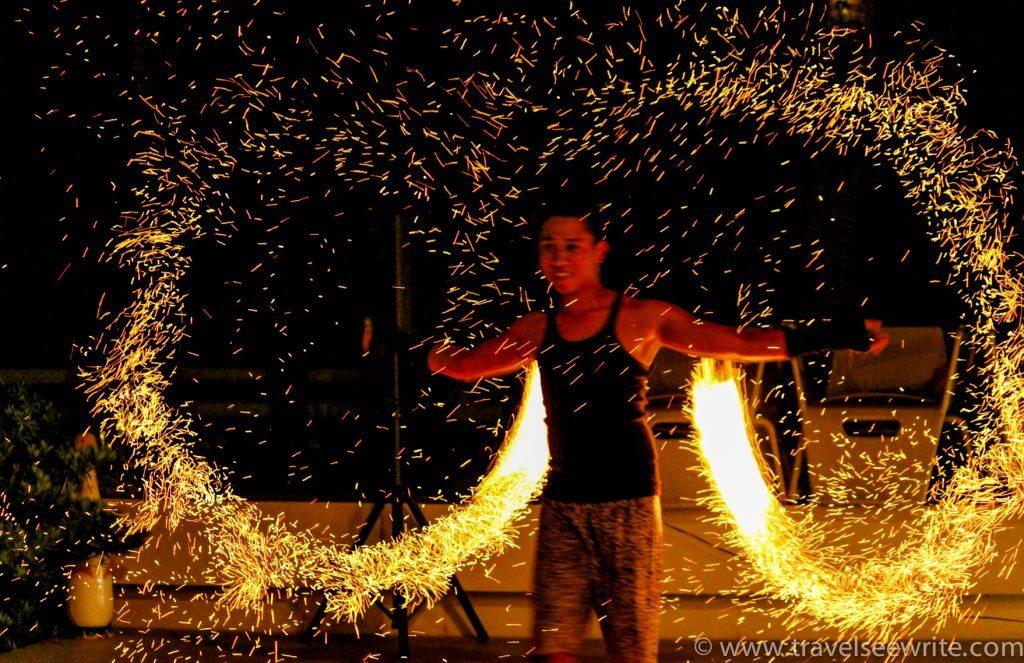 Fire dance, Costa Pacifica, Baler