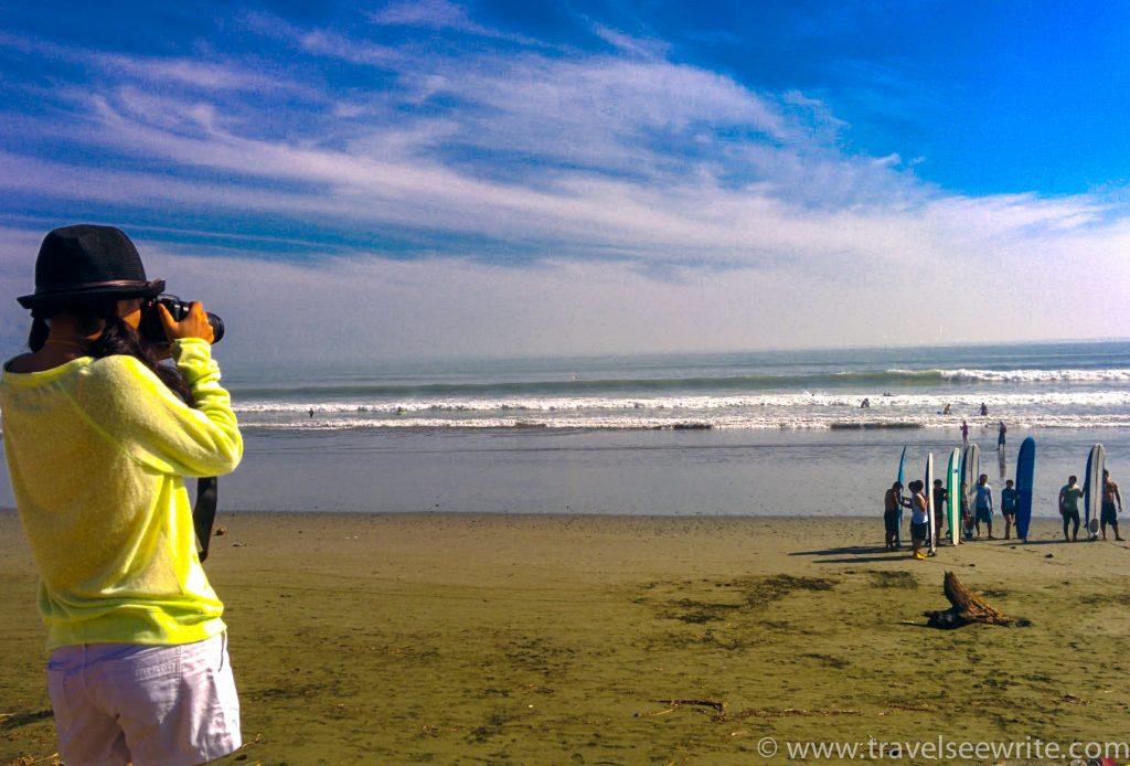 Me trying to capture the surfers, Sabang Beach, Baler