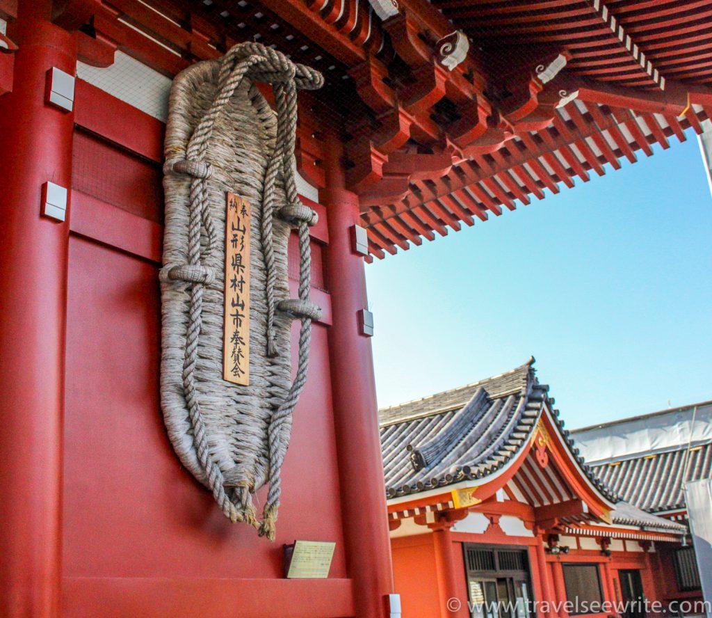 Giant straw sandal (waraji) at Hōzōmon Gate, Asakusa, Tokyo