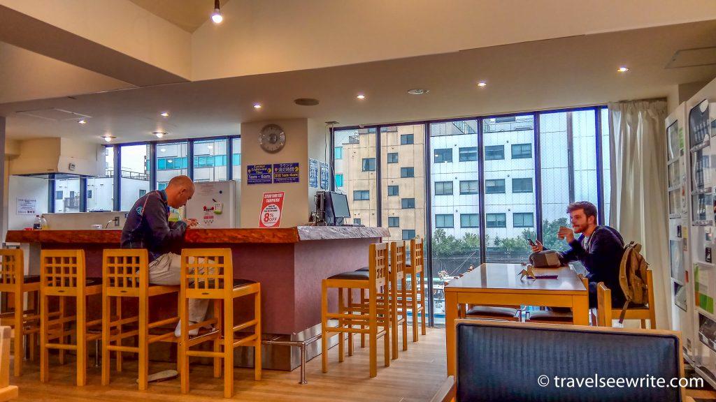 Lounge Area of Oak Cabin Hostel, Tokyo
