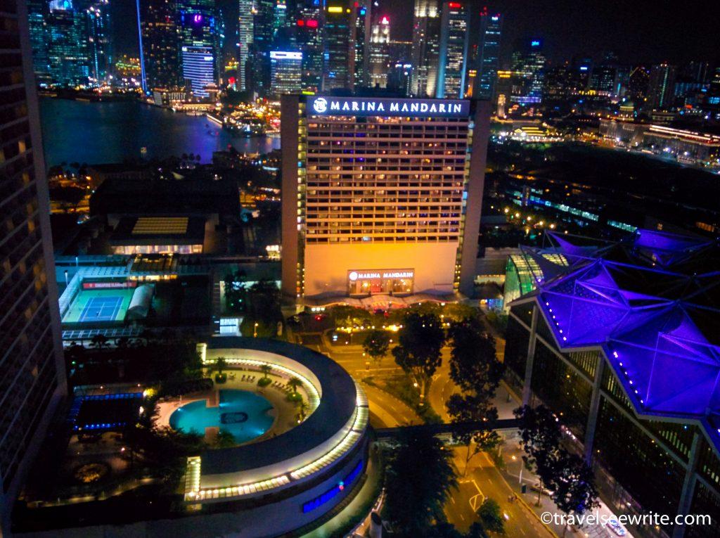 Marina Bay view from my room at Conrad Hotel, Singapore