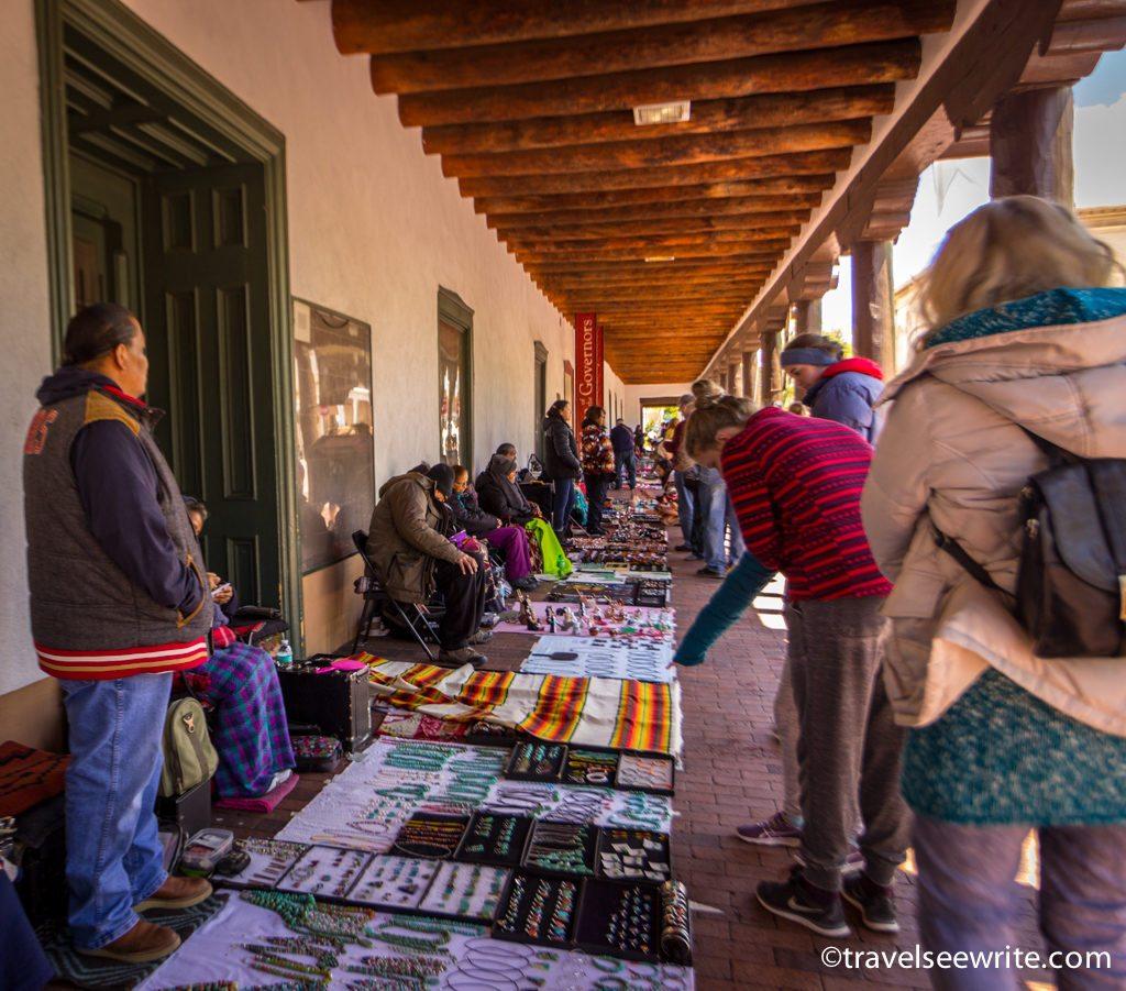 Native American Shopping at Plaza, Santa Fe, New Mexico
