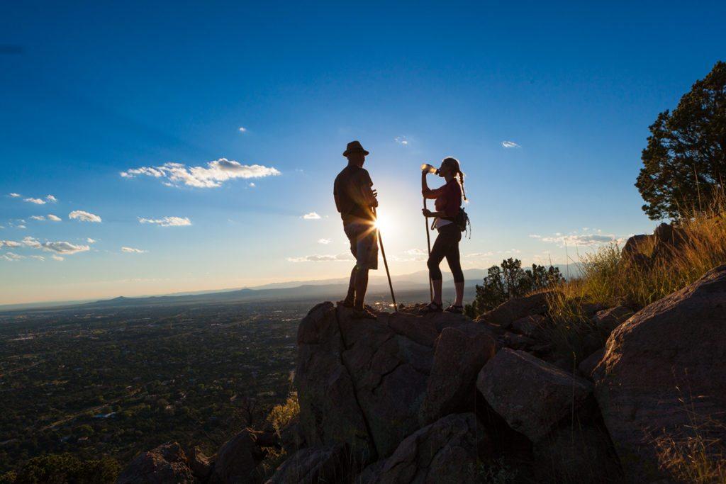 Hiking near Santa Fe, New Mexico