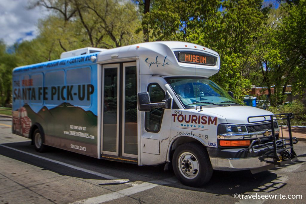 The FREE Santa Fe Pick-up shuttle, New Mexico, USA