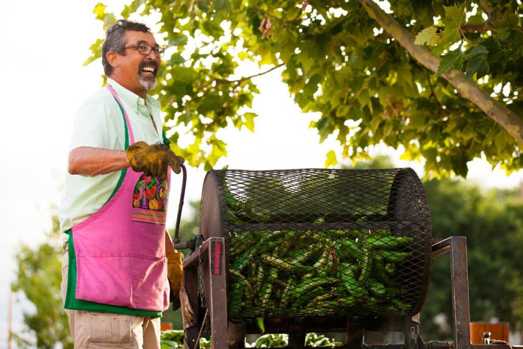 Chile Roasting, Santa Fe farmers Market, New Mexico