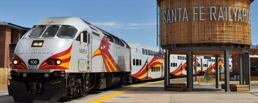 Railyard and Railrunner, Santa Fe, New Mexico