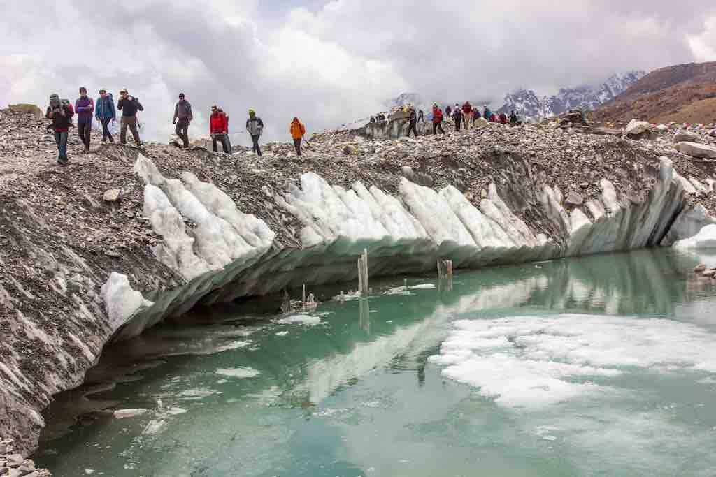 EBC Trek: Khumbu Glacier. Pic courtesey: Ashish Shrestha