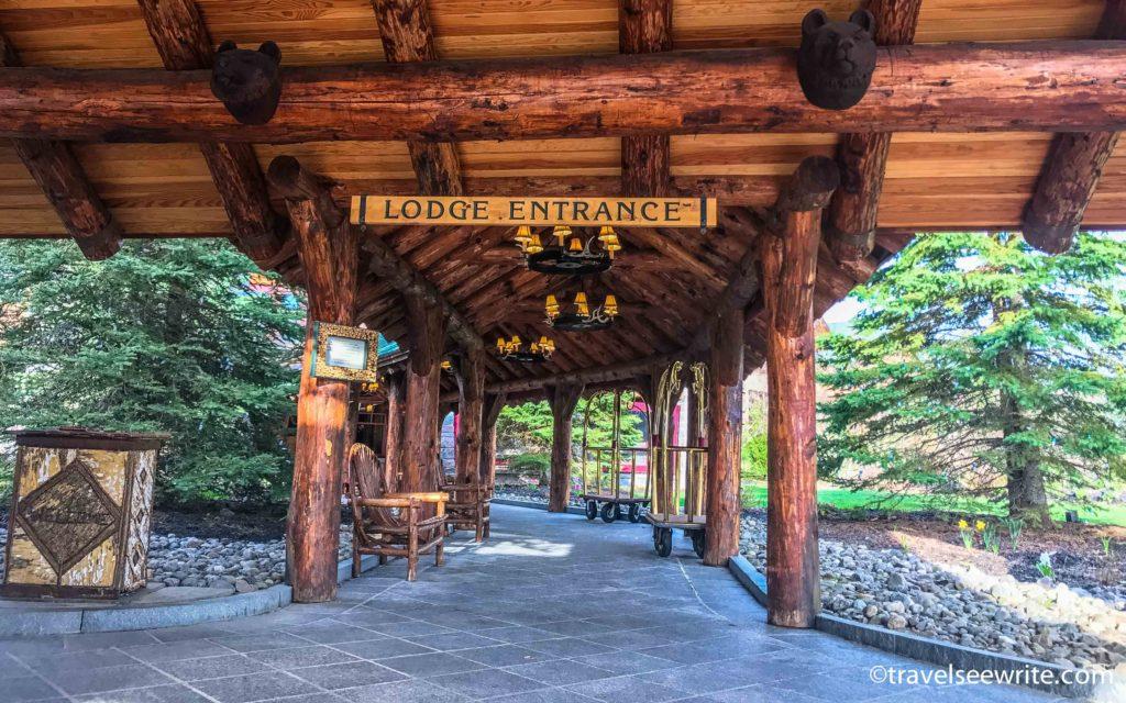 Entrance of the Whiteface Lodge, Lake Placid, Adirondacks