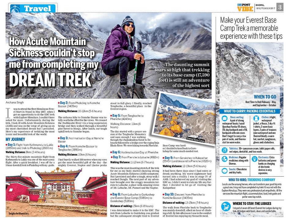 Everest Base Camp Trek, Altitude Mountain Sickness