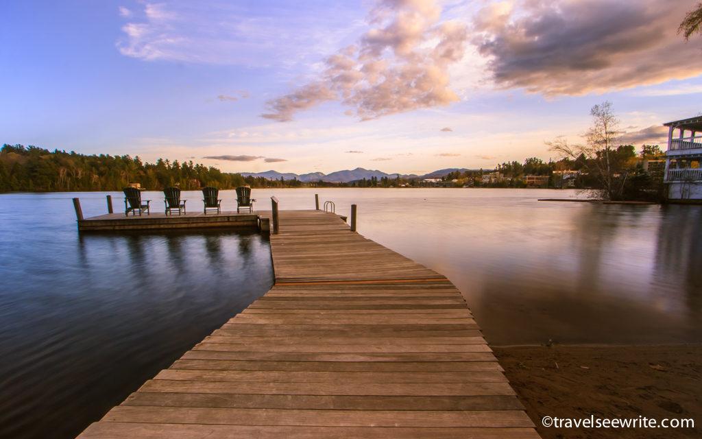 Mirror Lake at Golden hour, Lake Placid, Adirondacks