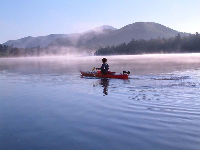 Kayaking at Lake Placid with Whiteface Lodge, Adirondacks