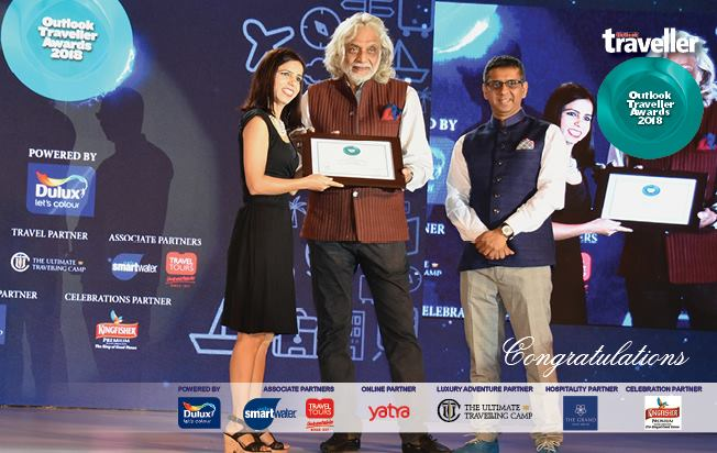 Won the Best Blogger Award, 2018 by Outlook Traveller
