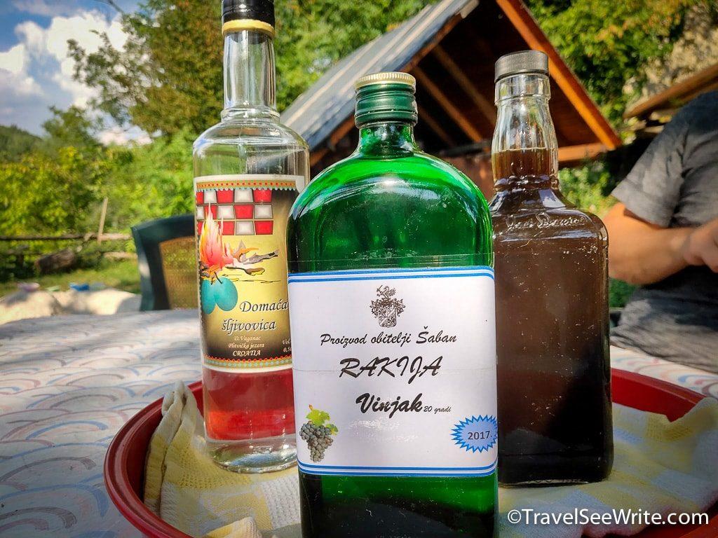 Things to do in Plitvice Lakes, Croatia: drink Rakija like a local