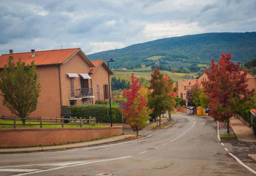 Village en route to San Gimignano,Via Francigena Toscana, Italy