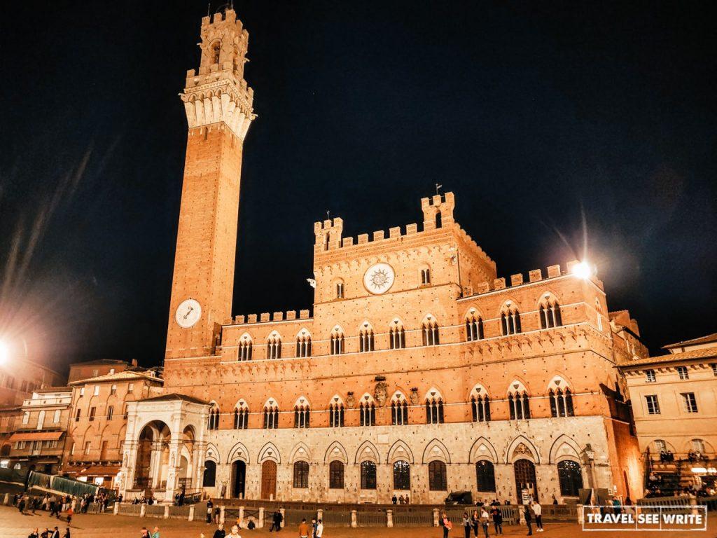 Piazza del Campo, Siena on Via Francigena Toscana, Italy