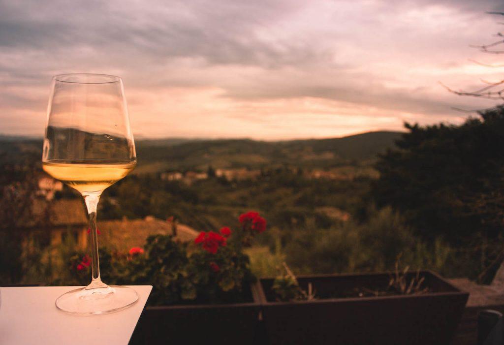 Tuscany Wine tasting in San Gimignano,Via Francigena Toscana, Italy