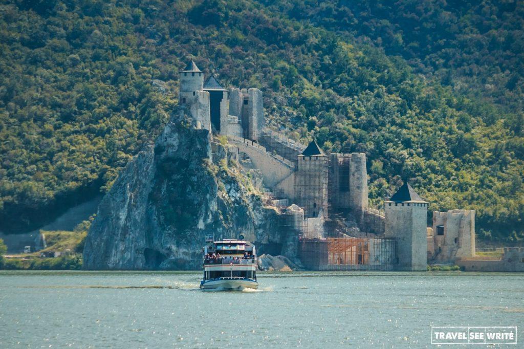 Danube River Cruise, Golubac Fortress, National Park Djerdap, Serbia