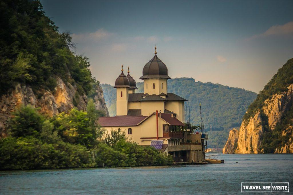 Danube River Cruise, Mraconia Orthodox monastery, Romania, Serbia