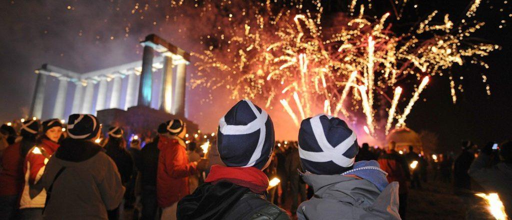 'Hogmanay' celebration in Edinburg, Scotland - a torchlight parade, concerts and a massive street party on Princes Street