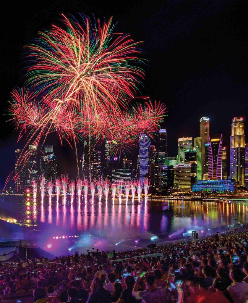 New Year Celebrations around the world - Singapore Marina Bay Countdown